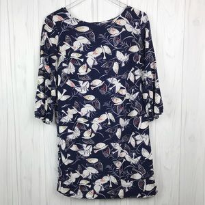 Old Navy • Navy Shift Dress with Birds